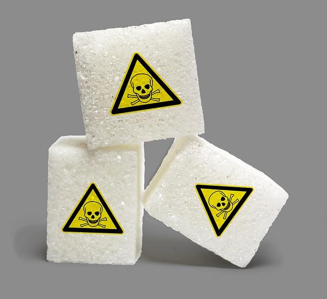 захарни бучки с обозначение за опасност, заради диабет
